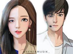 Anime Couples Drawings, Couple Drawings, Hot Anime Boy, Anime Art Girl, Boca Anime, Manhwa, Manga Anime, Princess Movies, Panda Wallpapers