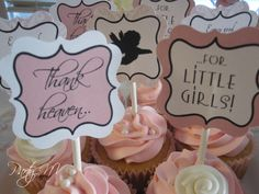 "Photo 1 of 25: Baby Girl Shower / Baby Shower/Sip & See ""Thank Heaven for Little Girls"" 