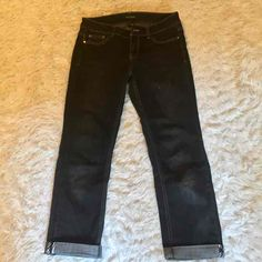 WHBM Black Blanc Cropped Jeans. Size 2! - Mercari: Anyone can buy & sell