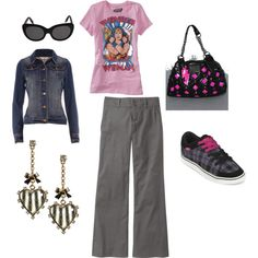 This outfit is totally fun - I'd probably wear this on a weekend for comfort.