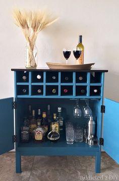 Learn how to transform an IKEA Tarva dresser into a bar cabinet!