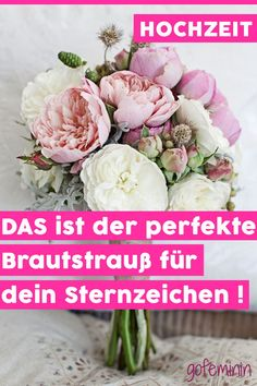 THAT is the right bridal bouquet for your zodiac sign - DIY-Hochzeit // Selbst ist die Braut - Pflanzen Wedding Flower Decorations, Bridal Flowers, Floral Wedding, Diy Wedding, Wedding Beauty, Diy Signs, Garden Inspiration, Zodiac Signs, Marie