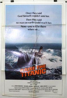 RAISE THE TITANIC - JASON ROBARDS / DAVID SELBY - ORIGINAL USA 1SHT MOVIE POSTER