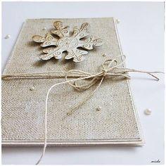 misha_cards / ❄Vianočná pohľadnica s vločkou❄