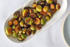 Wasabi and Tamari Roasted Brussels Sprouts