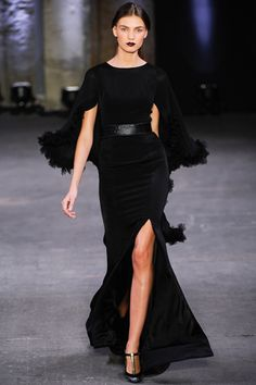 Christian Siriano Fall 2012 collection - My man finally got a dose of discretion. Go Chrissy!