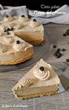 Ice Cream Desserts, Cheesecake Desserts, No Cook Desserts, Frozen Desserts, Sweets Recipes, Delicious Desserts, Yummy Food, Italian Gelato Recipe, Gelato Cake