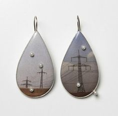 Bettina Speckner Schmuck  Earrings 2010   Photo in Enamel, Silver, Pearls