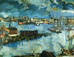 "Oskar Kokoschaka. ""Bahía de Estocolmo / Stockholm Harbour"", 1917"