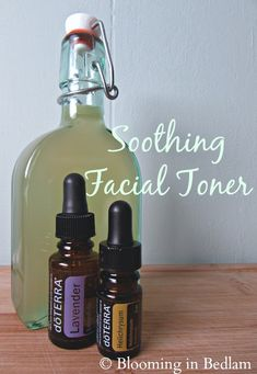 Dark Spot Reducing Facial Toner with doTERRA essential oils.  Bloom: 5/5 Bedlam: 4/5