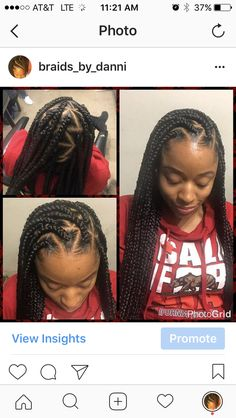 Individuals box braids black hair hairstyles cornrows bun life ponytail French braids feedin braids feed-in no knot