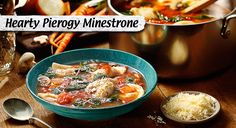 Mini pierogies & tender veggies seasoned to perfection bring hearty flavor to this Italian soup.
