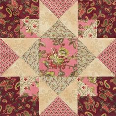 Civil War Quilts: Threads of Memory 1: Portsmouth Star for Ona Judge Staines