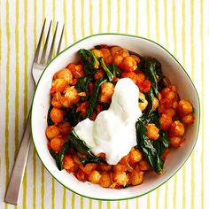 Curried Chickpeas are protein-packed and full of flavor!
