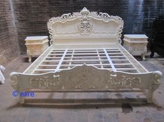 BESPOKE  very chich French style Rococo bed frame shabby look King queen double #FrenchCountry