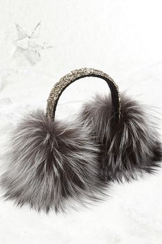 Gift her something luxurious this year like these #Surell Fox Fur Earmuffs sold exclusively at Saks #SaksHoliday