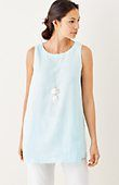 Pure Jill sleeveless linen tunic | J.Jill
