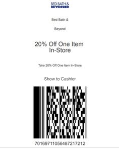 Here is new shopping pass coupon from Bed Bath and Beyond. Scan product(s). Latest Bed, Store Coupons, Bath And Beyond Coupon, 20 Off, Saving Money, How To Apply, Save My Money, Money Savers, Frugal