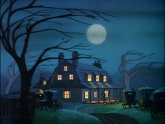 "Disney ""The Legend of Sleepy Hollow"" 1949 concept art by Mary Blair"