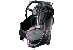 Scubapro Bella BCD- This BCD is especially designed for a woman's comfort and to form to the contours of a woman's body. (colors other than pink are available)