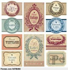 vintage labels set (vector)                                                                                                                                                                                 Mais