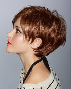 Brown Layered Pixie For Women