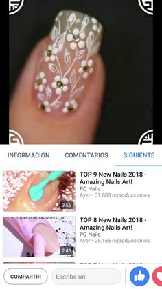 Blanco y piedras Fancy Nail Art, Fancy Nails, Trendy Nails, Cute Nails, French Nail Designs, Ombre Nail Designs, Acrylic Nail Designs, Nail Art Designs, Long Acrylic Nails