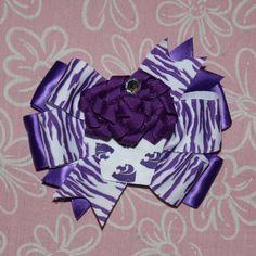KState Cupcake Hair Bow by MegansHairCandy on Etsy, $8.00