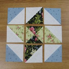 Wandering Star Free Quilt Block Tutorial Today let's look at the Wandering Star . - Wandering Star Free Quilt Block Tutorial Today let's look at the Wandering Star quilt block. Quilting Tutorials, Quilting Projects, Quilting Designs, Sewing Projects, Quilt Square Patterns, Pattern Blocks, Quilt Patterns Free, Free Pattern, Half Square Triangle Quilts