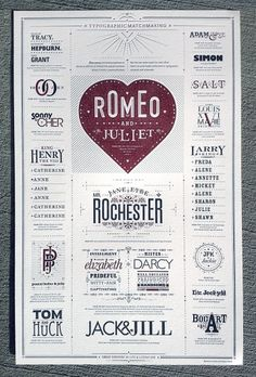 Designspiration — FPO: Typographic Matchmaking Poster