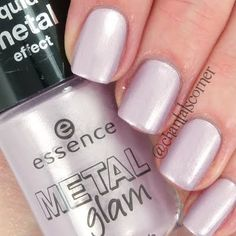 This manicure is a step up from your usual. All it takes is a metallic lavender nail polish. See the easy to grab ingredients here.