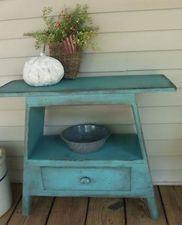 Pretty Primitives Wood Patterns | Primitive Yankee Washstand Bench PATTERN PLAN WN158
