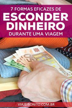 Onde esconder dinheiro para não ser roubado durante uma viagem #viagem #dinheiro #dicas