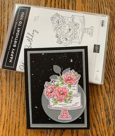 Stampin' Up! Happy birthday to you Birthday Cake Card, Happy Birthday, Diy And Crafts, Paper Crafts, Cupcake Card, Paper Pumpkin, Valentine Cards, Flower Cards, Stampin Up Cards