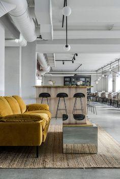 Maannos: A Cool Restaurant and Bar in Helsinki by Laura Seppänen (Nordic Design) Cool Restaurant, Vintage Restaurant, Restaurant Design, Bar Interior, Modern Interior Design, Interior Styling, Contemporary Interior, Helsinki, Cafe Design