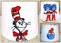 Dr Seuss Nursery Decor Painted The Cat In The Hat Lampshade