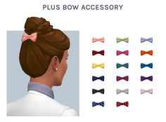 Classic Top Knot, plus Bow Accessory (hat)Hi friends! Long time, no see! I'm back with my very first hair mesh - a simple and high top knot that I've wanted in game forever. I also made an optional...