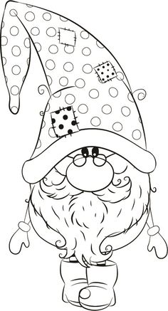 me ~ Andre winter Gnome Christmas Gnome, Christmas Colors, Christmas Art, Christmas Pictures, Christmas Drawing, Christmas Paintings, Colouring Pages, Coloring Books, Decoracion Navidad Diy