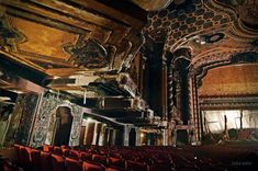Stages of Decay is beautiful photo book of abandoned theaters by photographer and urban exploration pioneer Julia Solis. In her research for the book, Solis photographed more than 100 theaters in America and Europe, from grand performance palaces to school auditoriums.
