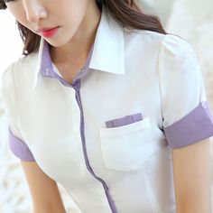 Blouses for women – Lady Dress Designs Suits For Women, Blouses For Women, Button Up Shirt Womens, Corporate Shirts, Work Tops, African Fashion Dresses, Work Attire, Ladies Dress Design, Modest Fashion