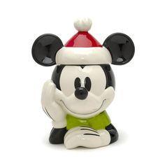 Biscottiera in ceramica Mickey Mouse in versione natalizia, Disney Store -cosmopolitan.it
