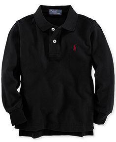 Ralph Lauren Kids Shirt, Little Boys Long-Sleeve Mesh Polo