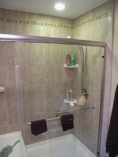 Marble subway tile shower 3x6 marble subway tiles back seat 5 shower pan with sliding glass doors in shower planetlyrics Gallery