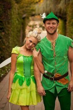 cute halloween costume for couple fairy elf Halloween Kostüm Joker, Tinkerbell Halloween Costume, Couples Halloween, Cute Couple Halloween Costumes, Cute Halloween Costumes, Halloween 2017, Pocahontas Costume, Frozen Costume, Mouse Costume