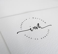 This wedding logo features an beautiful handwritten font and modern, minimalist design. Use this logo for all of your wedding needs. Add this to your wedding website, invitations, menus, signage, stationery, photos, and more.  The wedding logo will be customised with your names, initials, wedding date and location. Wedding Initials, Monogram Wedding, Monogram Initials, Monogram Letters, Wedding Logo Design, Wedding Logos, Wedding Designs, Monogram Design, Monogram Logo