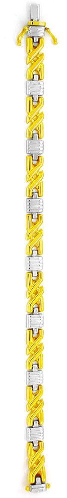 Foto 3, Tolles Designer Gold-Armband Bicolor 14K/585, Shop Neu!, K2965