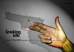 Anti smoking campaigns are becoming more creative and hard to ignore these days. Here is a showcase of some really powerful anti-smoking campaigns. Quit Smoking Tips, Smoking Kills, Giving Up Smoking, Ads Creative, Creative Advertising, Creative Photos, Social Advertising, Advertising Design, Anti Tabaco
