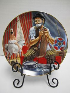 Otto Greibling Clown Collector Plate Circus World Museum Royal Manor Porcelain