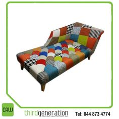 We love this stunning chaise lounge! Something different to have in your living room! Available from CAW Third Generation! Generation Photo, Outdoor Furniture, Outdoor Decor, Third, Toddler Bed, Cushions, Lounge, Couch, Living Room