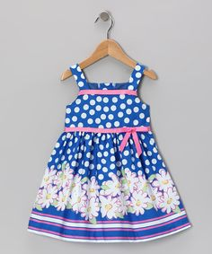 Take a look at this Navy Flower A-Line Dress - Toddler by Gerson & Gerson on #zulily today!